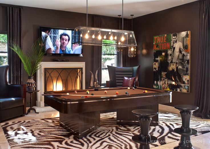 Khloe Kardashian Amazing Pool Room With Zebra Print Rug