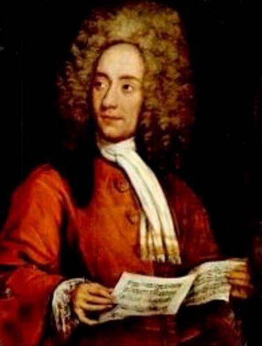 Portrait of the Composer Tomaso Giovanni Albinoni (1671-1751) Holding a Music Score (Italian School)