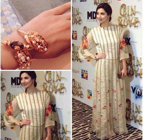 Pakistani actor Mahira Khan in Feeha Jamshed, promoting her film 'Bin Roye'.