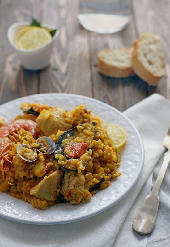 Receta 184: Paella de pollo » 1080 Fotos de cocina