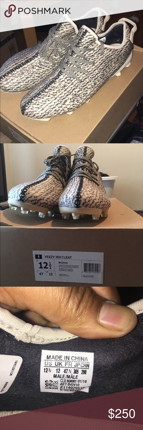 Adidas yeezy football cleats Brand new adidas yeezy football cleats never worn! Size 12 original everything Adidas Shoes Sneakers