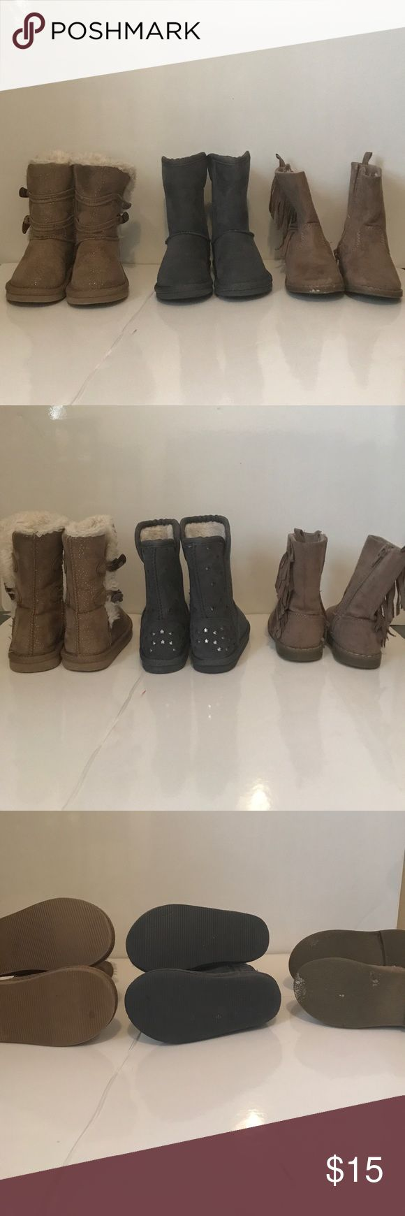 Toddler Girl Boots 3 pairs of gently worn toddler girl boots Old Navy Shoes Boots