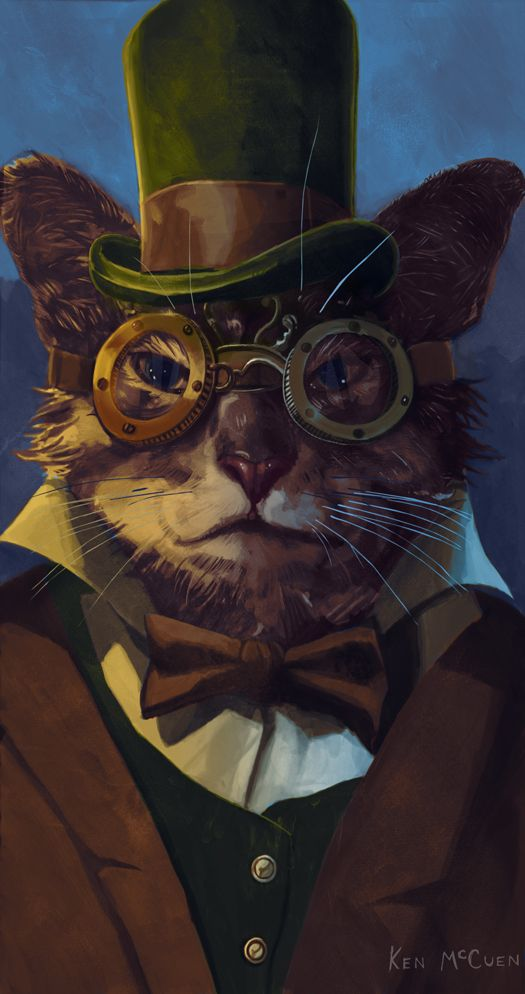 Cat - ok... And meow to you kind sir... loving steampunk cats, who knew I'd find so many?