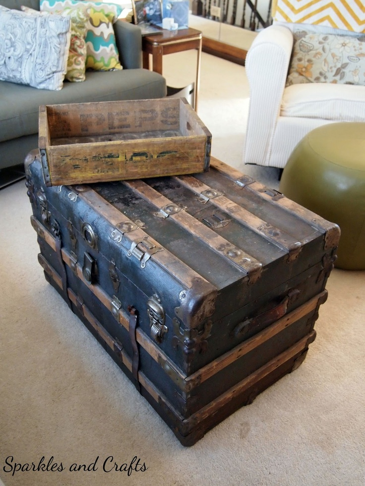 My mom has got a lot of old trunks like this. They're very useful and fun!
