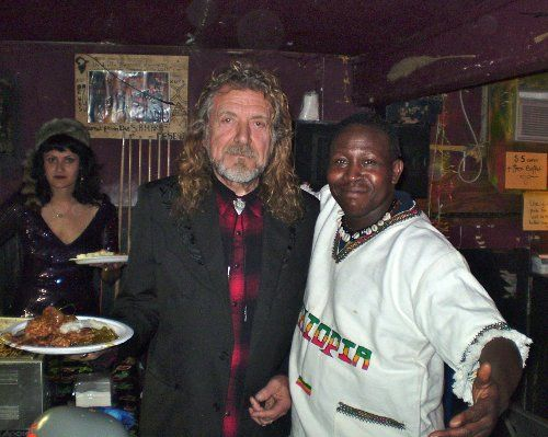 Led Zeppelin Lead Singer Robert Plant At Sahara Lounge In East Austin With Sahara Owner Ibrahim Aminou*