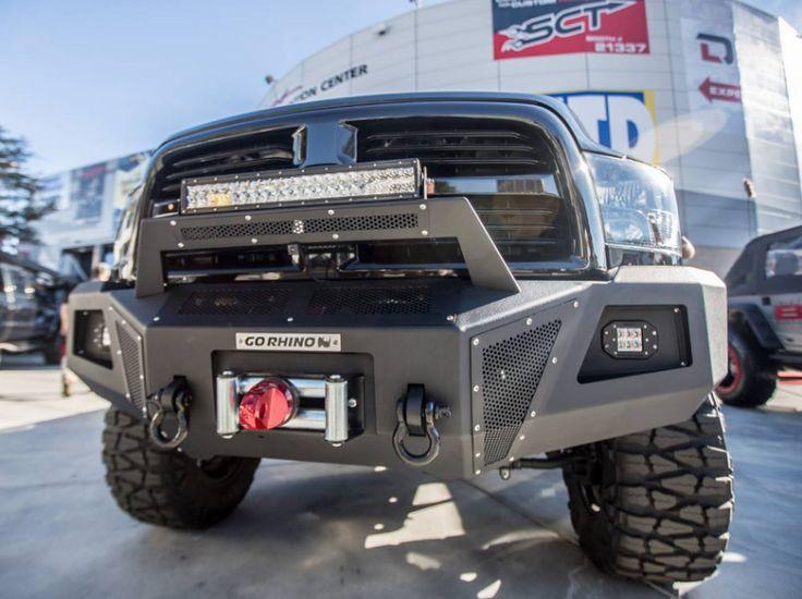 Go Rhino 24219T BR10 Winch Front Bumper Dodge RAM 2500/3500 2010-2016