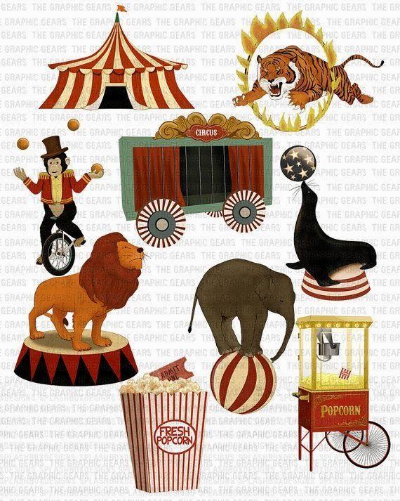 Pin By Elsbeth Van Beilen On Muzisch Project Circus Vintage Circus Vintage Circus Theme Circus Animals Illustration
