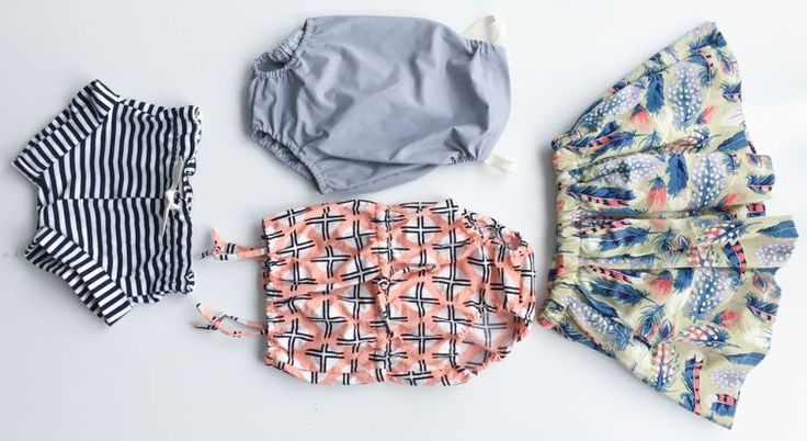 One Pattern, Four Ways-- start with diaper cover pattern and make rompers, skirt, or shorts