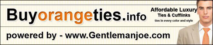 Orange ties | Orange Tie | Orange silk tie | Orange silk ties | Orange necktie | Orange Neckties | Orange mens tie | Orange mens ties | Orange Cufflinks | Orange pocket squares | Orange Cravat | Orange wedding tie | Orange Extra Long Ties