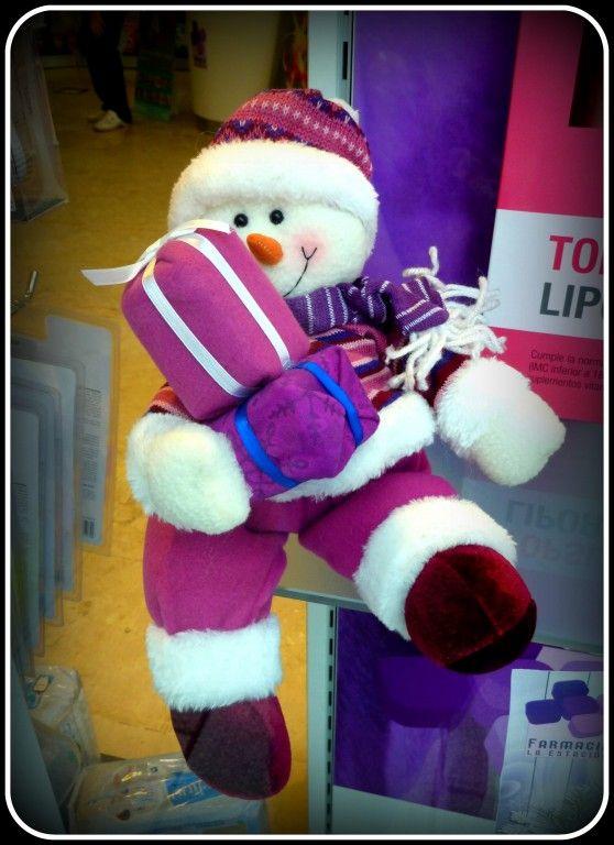 Muñeco de Navidad Farmacia La Estación Navidad 2013