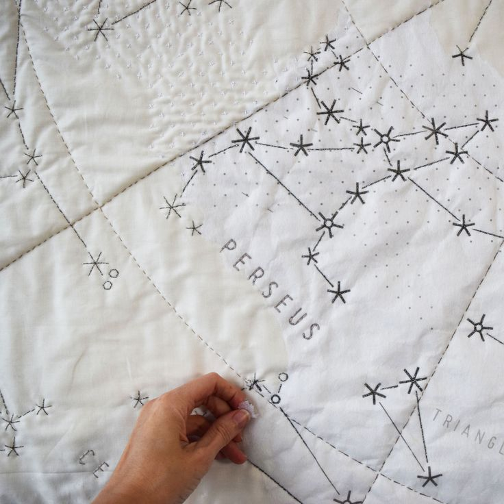Really want this...DIY Constellation Quilt - large from Haptic Lab
