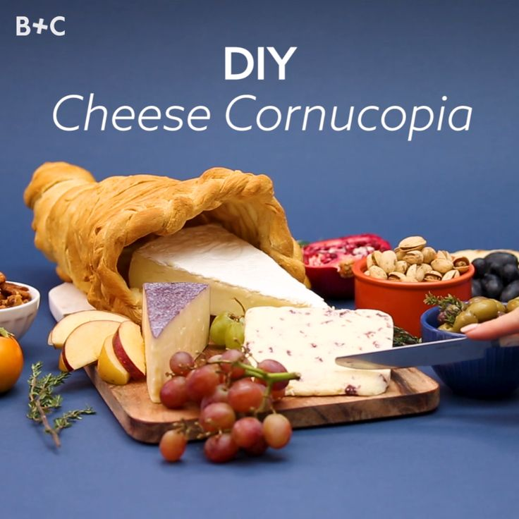 Make your holiday celebration even tastier with this DIY cheese cornucopia.