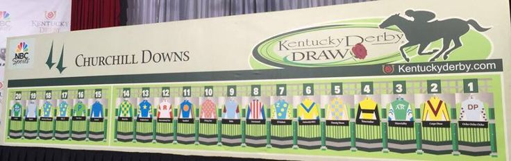 2015 KENTUCKY DERBY POST POSITIONS BY SILKS