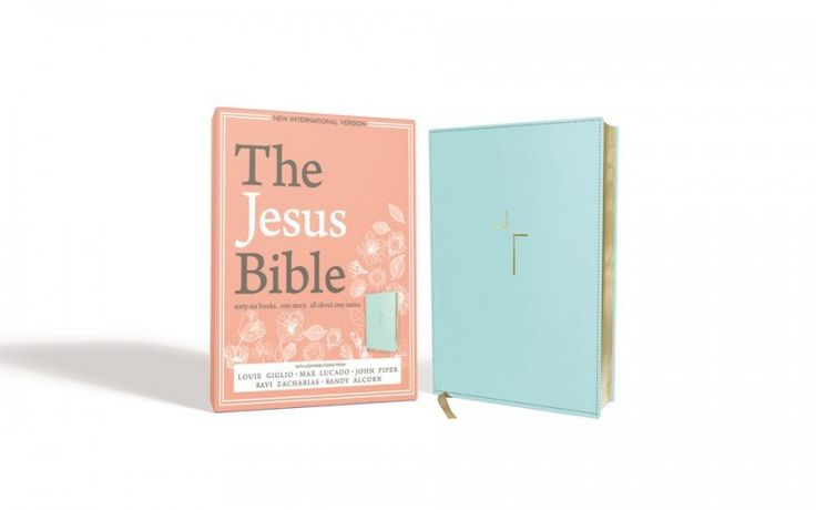66 Books. One Story. All About One Name.<br />The Jesus Bible, NIV Edition, with study notes by a writing team from Passion plus special contributions from Louie Giglio, Max Lucado, John Piper, Ravi Zacharias, and Randy Alcorn help you meet Christ in the pages of the Scripture.