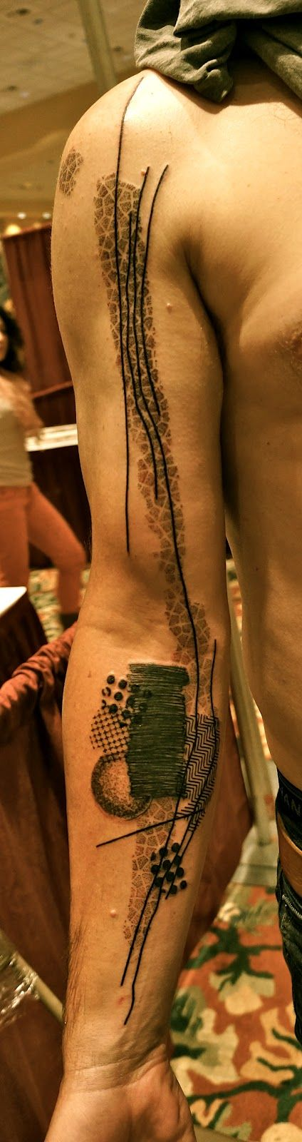 Boucherie Traditionnelle Noon Tattoos. Very interesting | modern abstract art tattoo