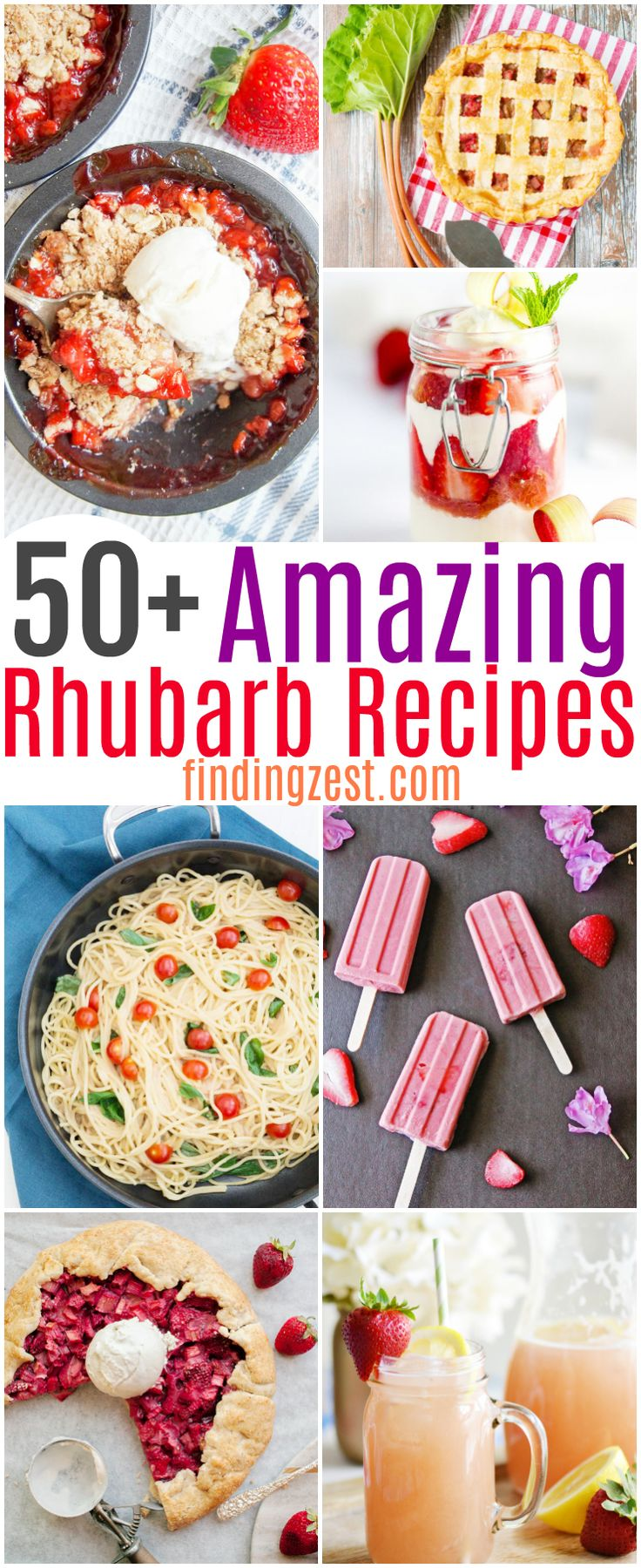Not sure what to do with all that rhubarb you harvest? Get over 50 rhubarb recipes worth making during rhubarb season! These are the the best rhubarb recipes. From classic rhubarb desserts to healthy rhubarb recipes, this list has everything you need to use up that rhubarb! #rhubarb #recipes #foodie #dessertrecipes #dessert #baking #cooking #dessert