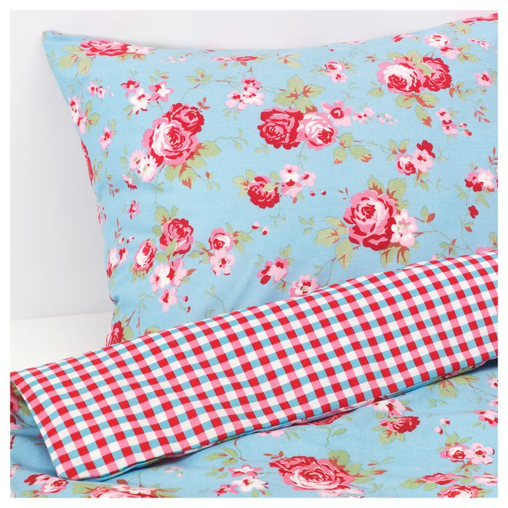 ROSALI Quilt cover and 4 pillowcases - 200x200/50x80 cm - IKEA
