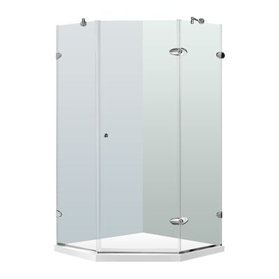 Vigo VG6061CHCL40WS Frameless Neo-Angle Shower Enclosure with #home #decor sale & deals Size Options:40 1/4-in W x 40 1/4-in L, Door Options:Reversible, Glass Options:Clear Glass, Finish Options:Chrome The VIGO Frameless Neo-angle Clear/B...