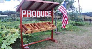 A cute produce stand - for  the front yard eventually?