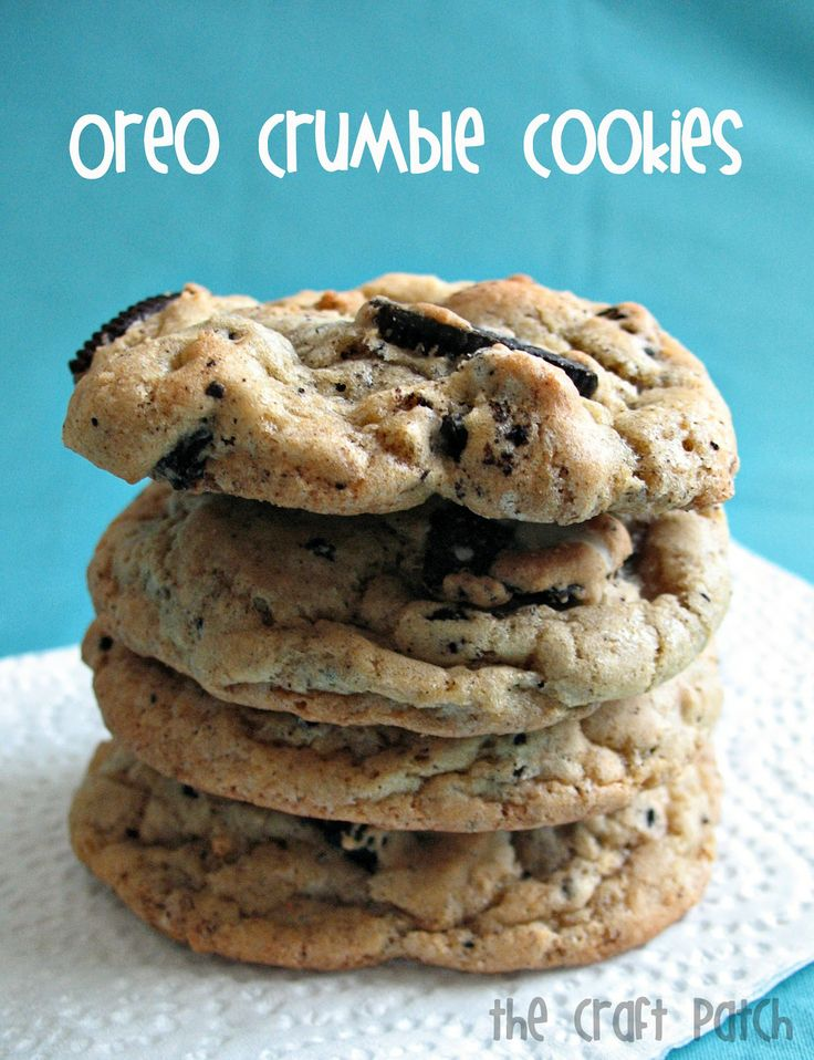 The Craft Patch: Oreo Crumble Cookies- will try these tomorrow