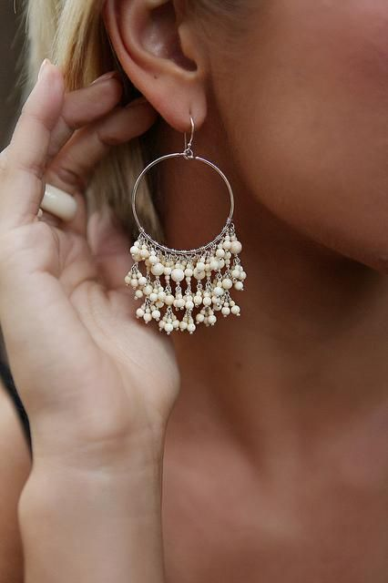 """""""Hannah"""" Earrings  fossil mammoth ivory & sterling silver  Ivory Jacks- my families business :)"""