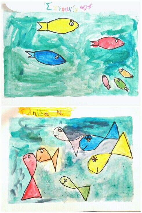 My 6-year-olds  practised on the primary and secondary  colours using the fish as their theme.