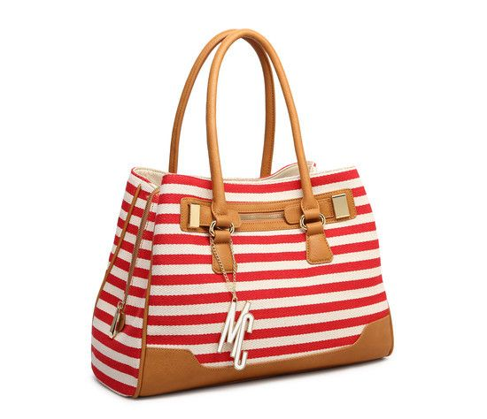 Shopping Bag Listrada Vermelha Macadâmia