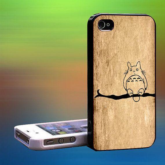 Totoro in Branch line art Custom Case iPhone by laskarspelangi, $14.89