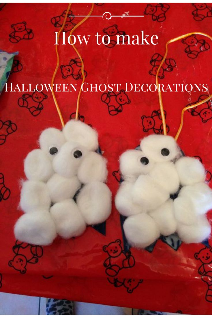 Look at these cute Halloween Ghosts! To find out how we made these take a look at my blog.