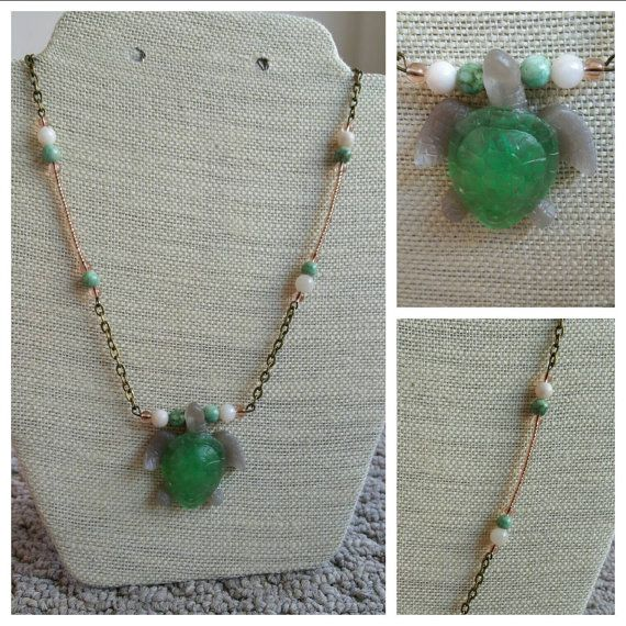 Check out this item in my Etsy shop https://www.etsy.com/ca/listing/245003271/unique-green-turtle-necklace