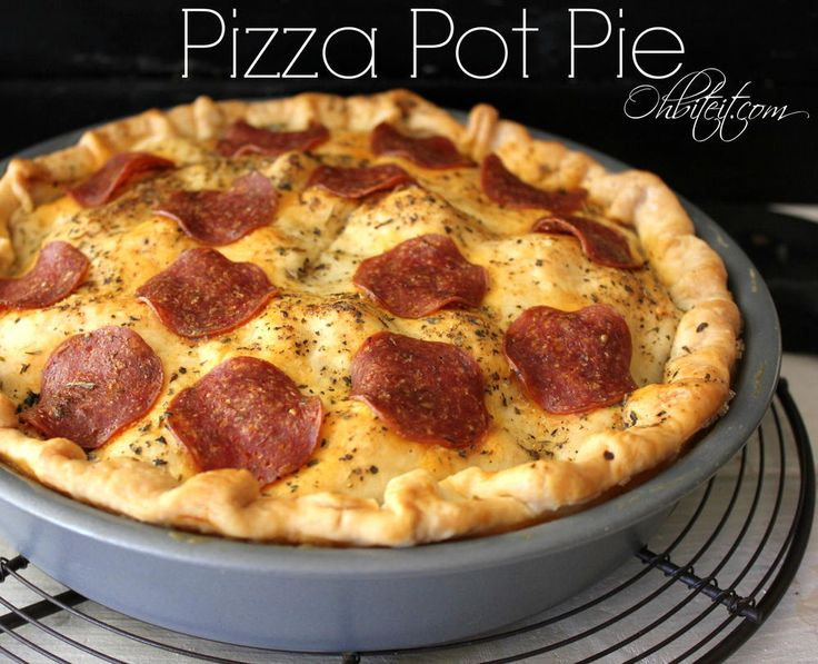 Pizza Pot Pie | This pot pie recipe is more of a casserole than Chicago deep dish pizza!