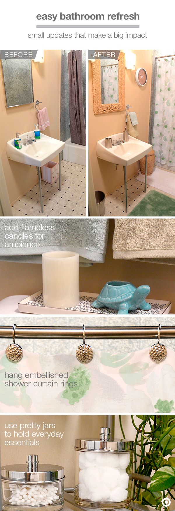 Target bathroom accessories shower curtains - Youtube Vlogger Mr Kate Turns An Old Bathroom Into An Oasis 1