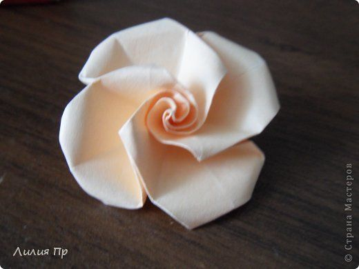 MK to these roses. The paper size depends on the desired size of the rosettes. photo 11