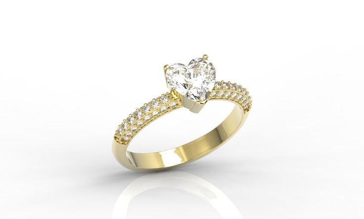 Pierścionek zaręczynowy wykonany ze złota z diamentami/ Engegement ring made from gold with diamonds  #engegement #ring #weddingtime #jewellery #diamonds