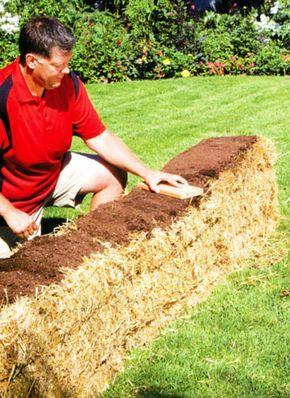 Få en ukrudtsfri køkkenhave ved at dyrke i halmballer