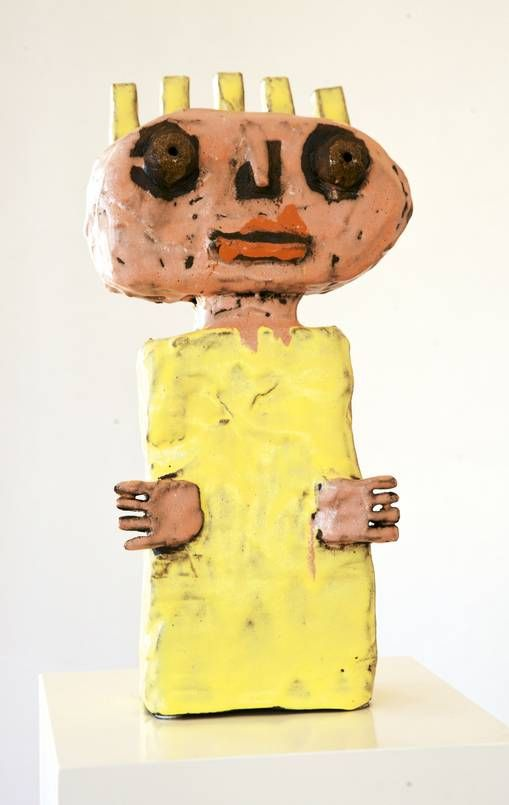 Leif Sylvester sculpture - Woman With Yellow Body