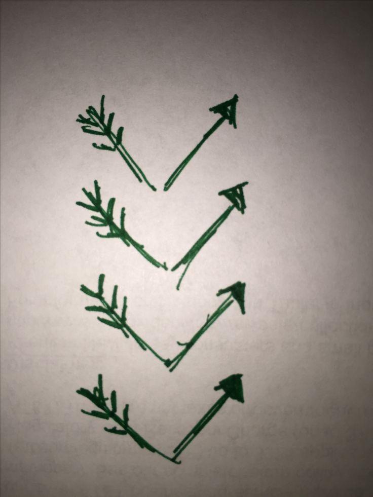 Broken arrow chevron tattoo idea