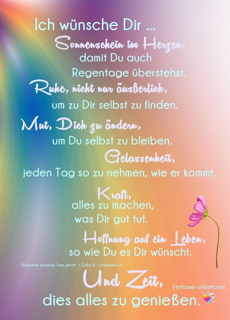 Kluge sprüche-Bild von Eliane Funk   Wünsche fürs leben ...