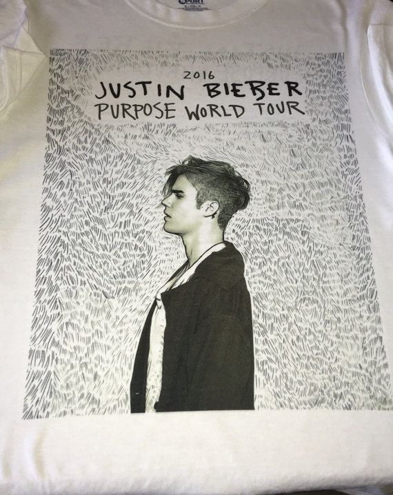Justin Bieber Purpose World Tour 2016 shirt by BeFierceDesigns