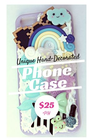 Wonderland in Lilac \\ $25 \\ Phone Case \\ Hand-Decorated \\ iPhone 5/5s \\ MangoBerry Beach