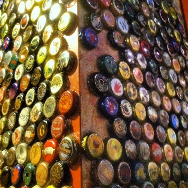 Beer bottle cap wall man cave mancave beer for Bottle cap wall