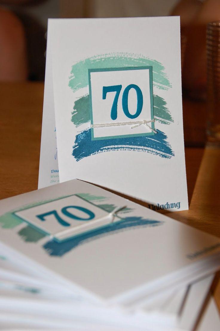 Schön Maikes Kreativseite: Einladungen Zum 70. Geburtstag