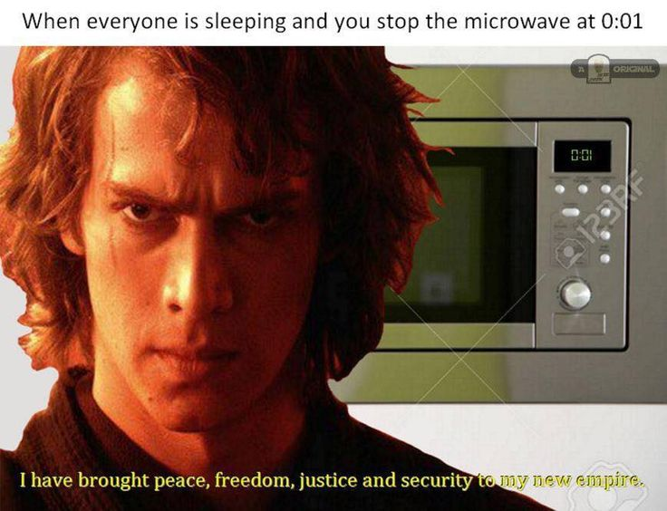 "When everyone is sleeping and you stop the microwave at 0:01: ""I have brought peace, freedom, justice, and security to my new Empire."