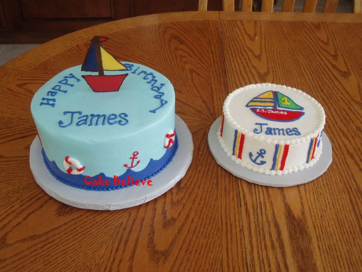 Pin Nautical Themed First Birthday Cake Picture To Pinterest