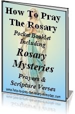 Scriptures that correlate witg the mysteries of the rosery
