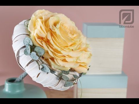 Bridal bouquet one rose How to make tutorial