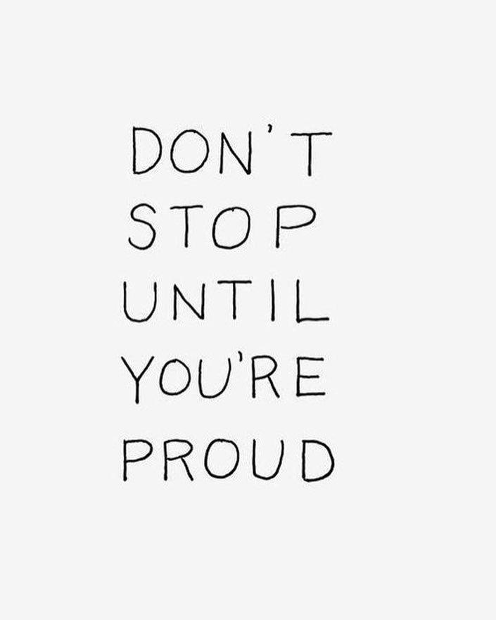 Ik ben een perfectionist en dus wil ik vaak niet stoppen totdat ik trots ben op …
