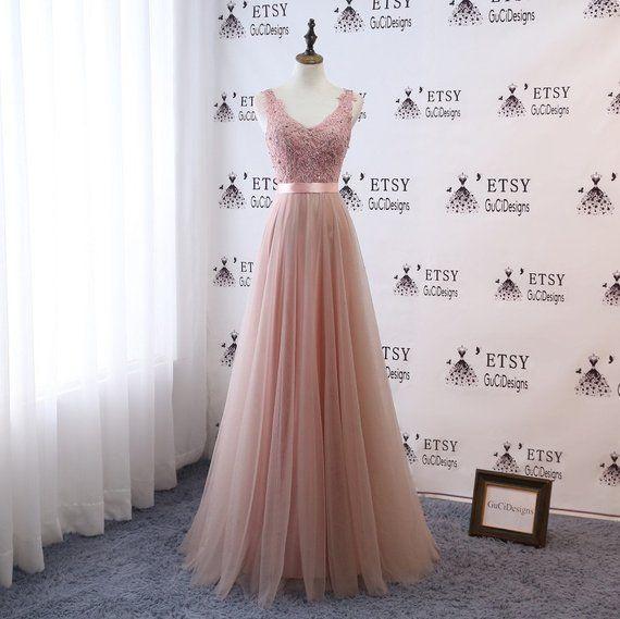 Vestido de dama de honra Longo Maxi Vestido Infinito Renda Rosa Conversível Formal Formal Vestido de Multiway com Faixa Vestido de Noite Festa de Natal de Casamento   – Wedding
