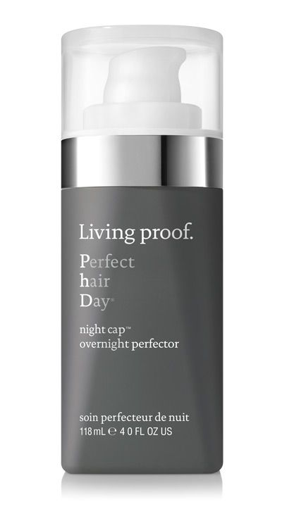 Living Proof Night Cap is the ultimate beauty sleep for your hair. Apply it before bed (to dry or damp hair), go to sleep, and wake up with shiny, vibrant, and more manageable hair that lasts for days. #perfecthairday