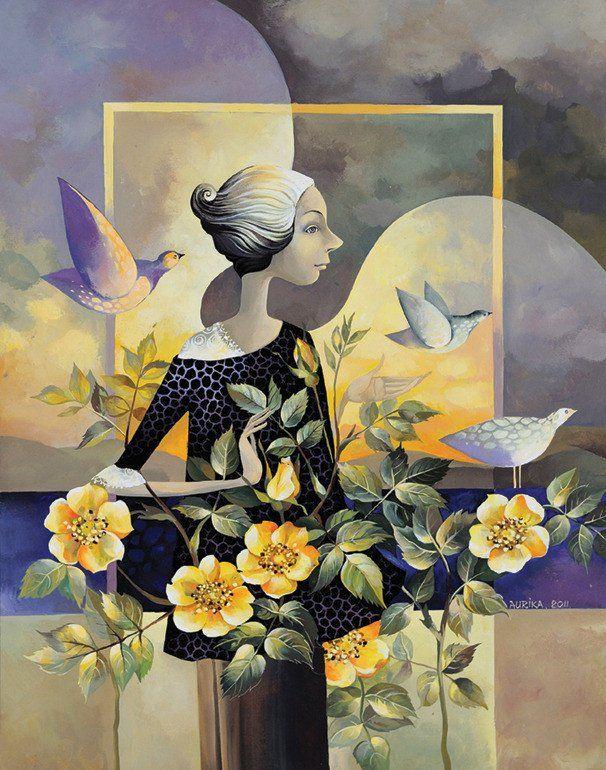 Yellow Roses - Aurika Piliponiene (Print)